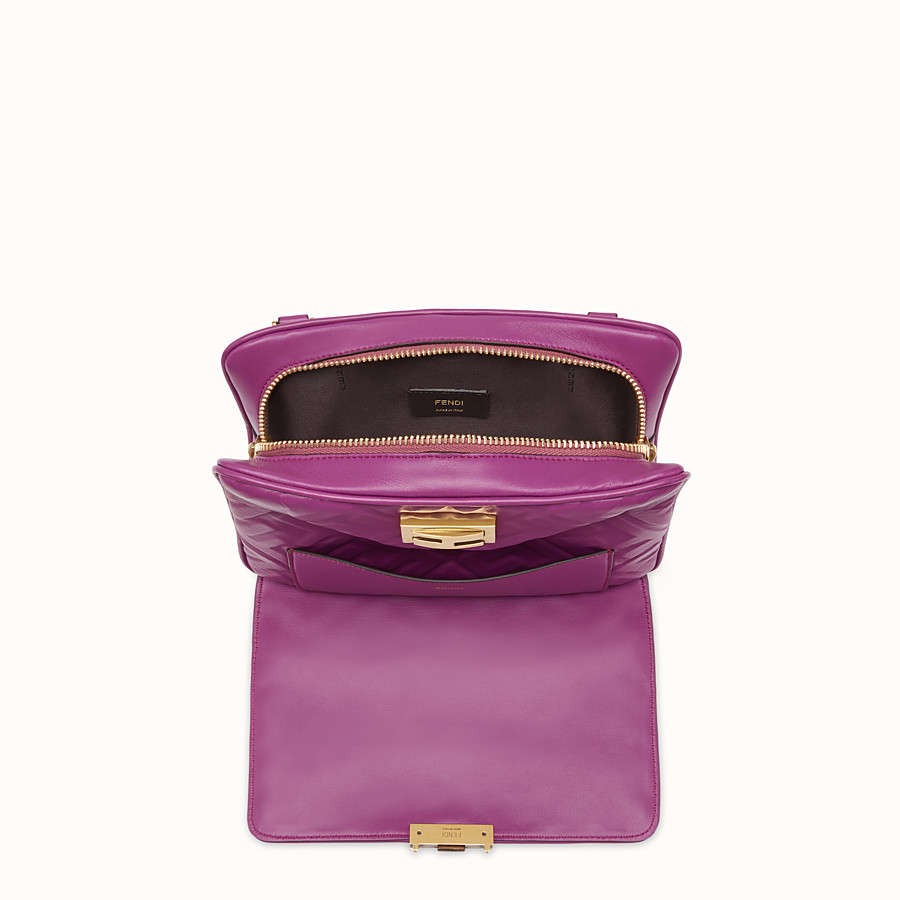 FENDI UPSIDE DOWN - Purple leather bag - view 4 detail
