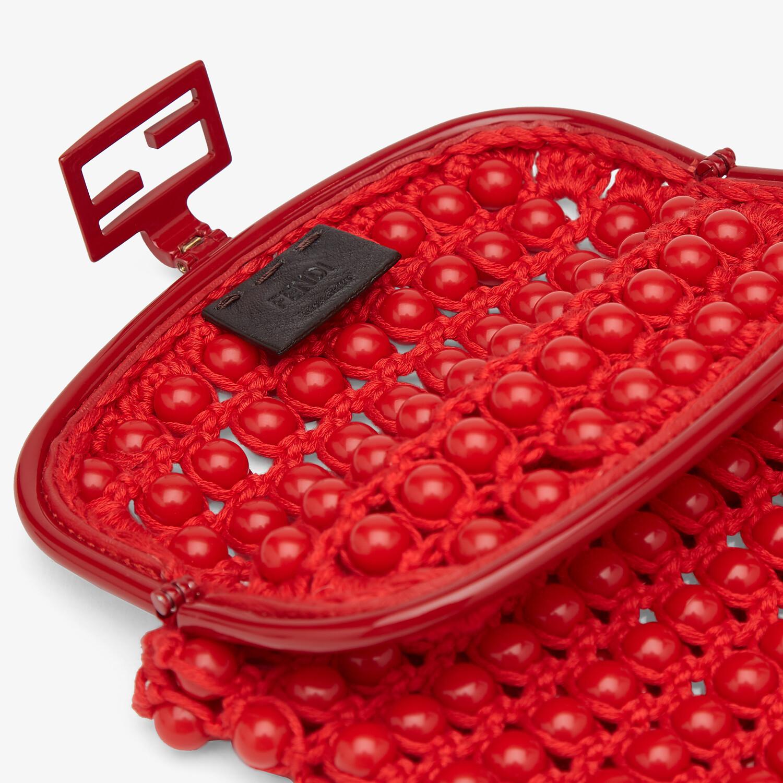 FENDI BAGUETTE PHONE BAG - Red lace mini-bag - view 4 detail