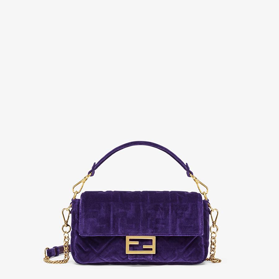 FENDI BAGUETTE - Purple velvet bag - view 1 detail
