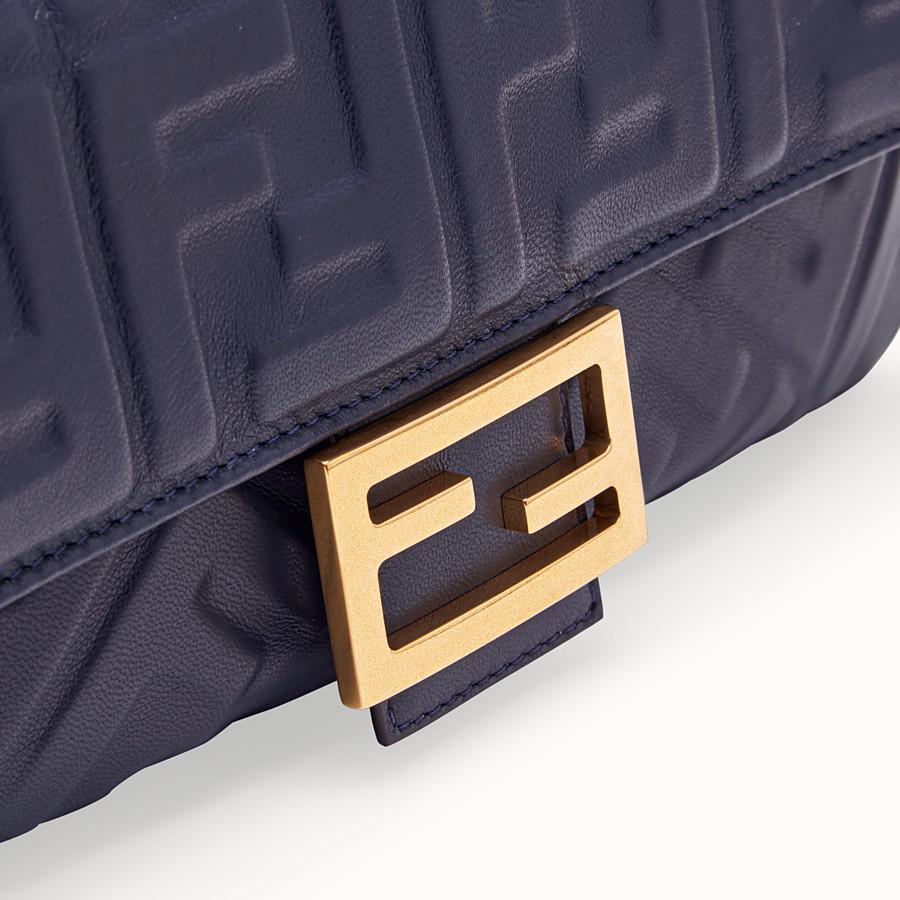 FENDI BAGUETTE - Blue nappa leather bag - view 5 detail