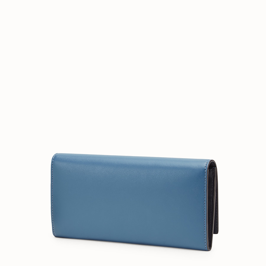 FENDI CONTINENTAL - Blue leather wallet - view 2 detail