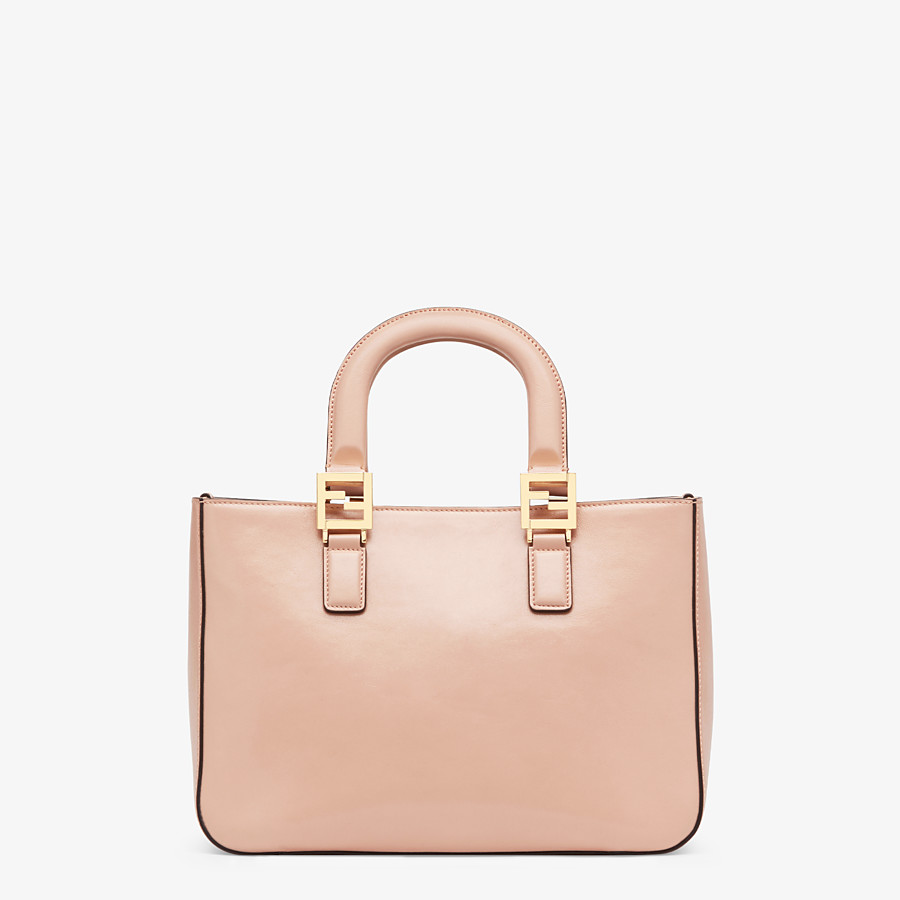 FENDI FF TOTE SMALL - Tasche aus Leder in Rosa - view 4 detail