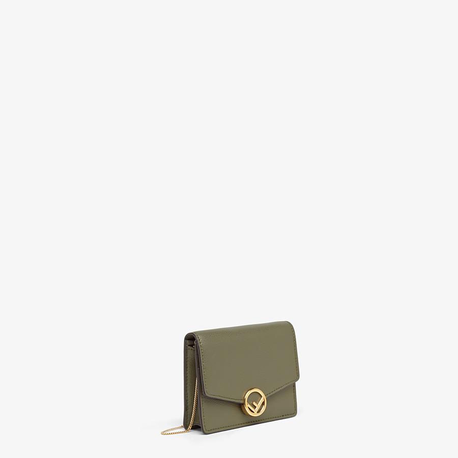 FENDI WALLET ON CHAIN - Green leather mini-bag - view 2 detail