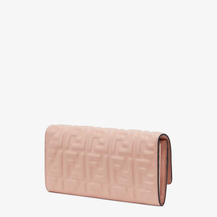 FENDI CONTINENTAL - Pink nappa leather wallet - view 2 detail