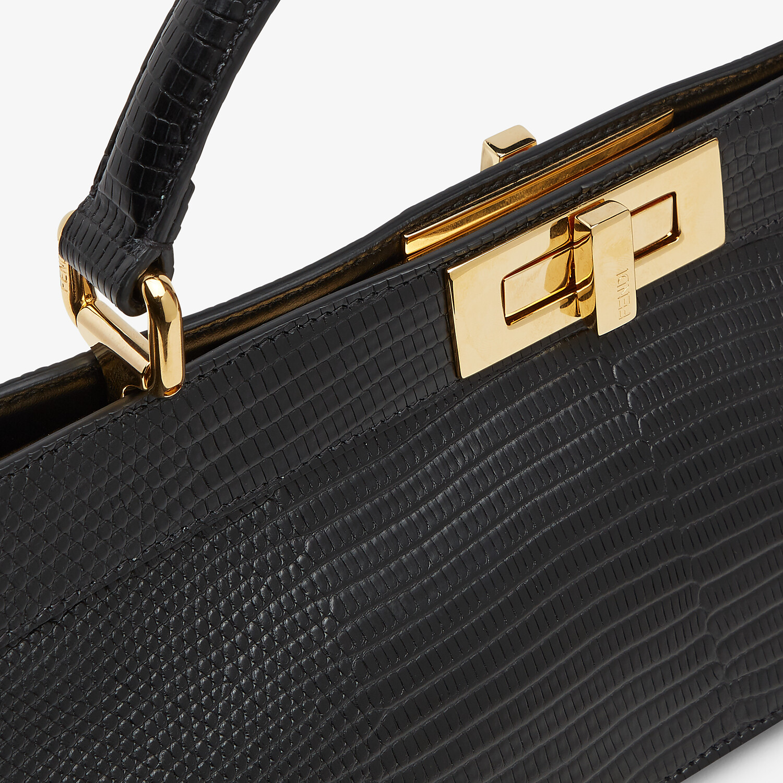 FENDI PEEKABOO ISEEU STRETCH - Tasche aus Eidechsenleder in Schwarz - view 6 detail