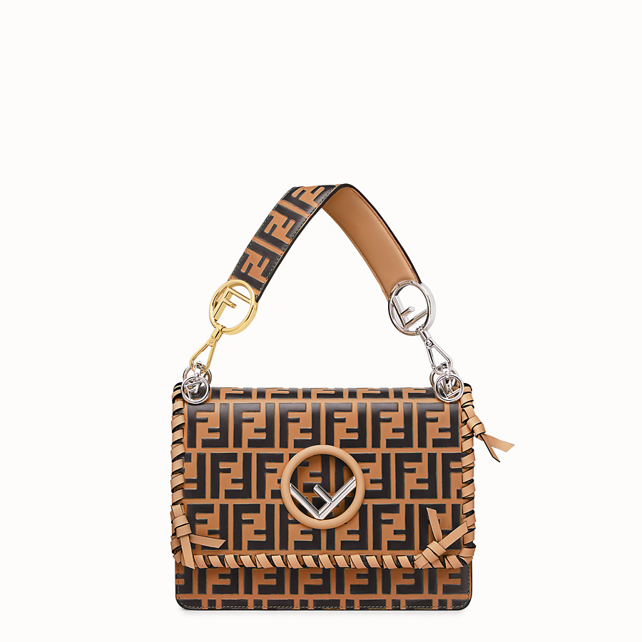 FENDI KAN I F - Brown leather bag - view 1 detail