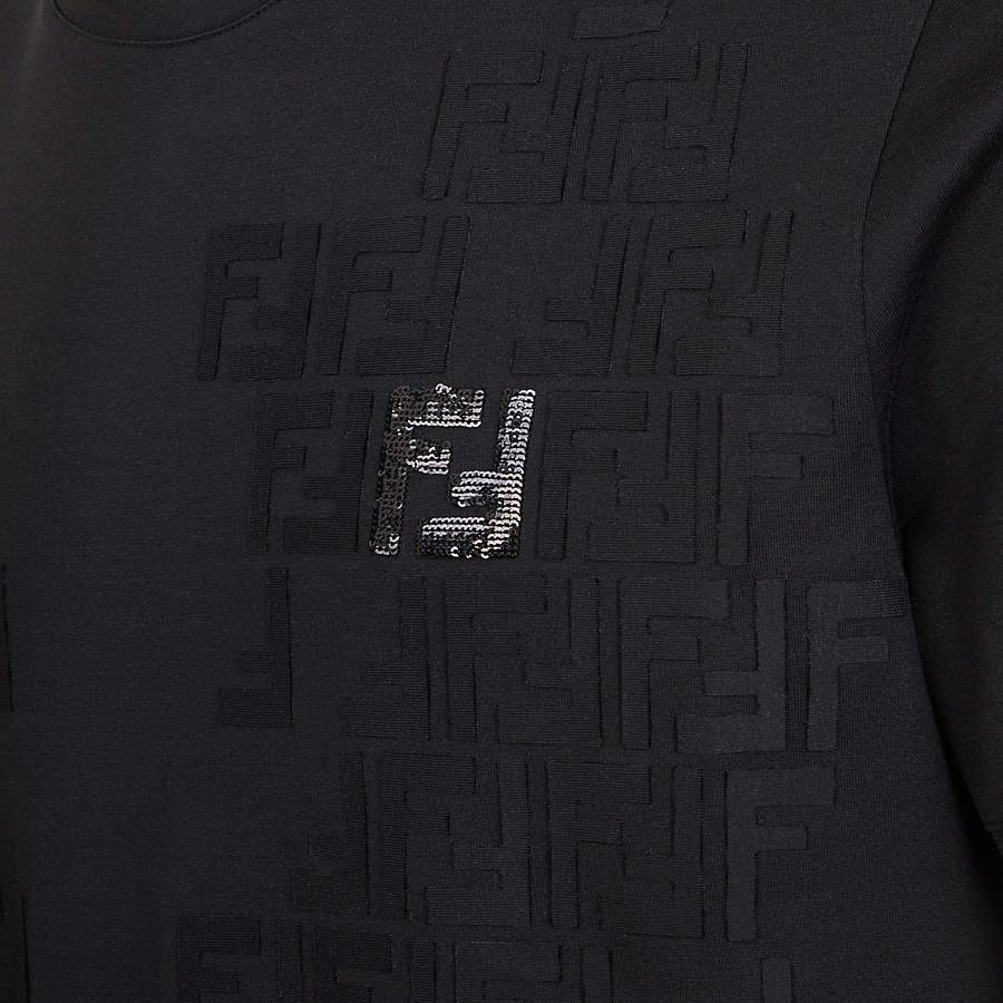 FENDI T-SHIRT - T-Shirt aus leichtem Jersey in Schwarz - view 3 detail