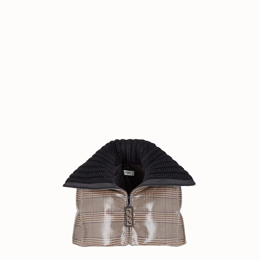 FENDI CAPE - Prince of Wales check fabric cape - view 1 detail