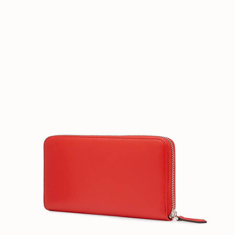 FENDI ZIP-AROUND - Red leather zip-around - view 2 detail