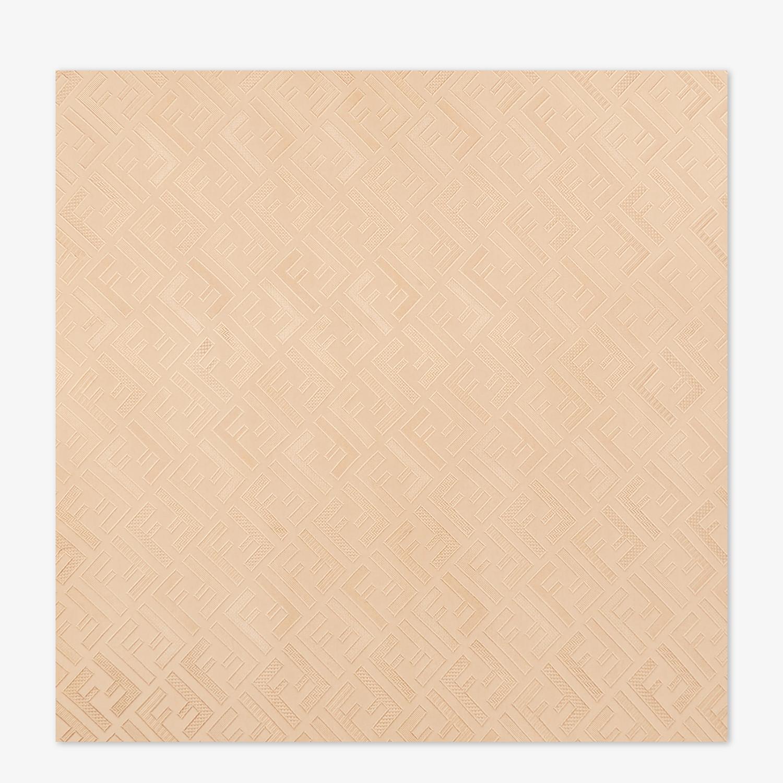FENDI SIGNATURE STOLE - Beige silk stole - view 1 detail