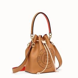FENDI MON TRESOR - Brown leather bag - view 3 thumbnail