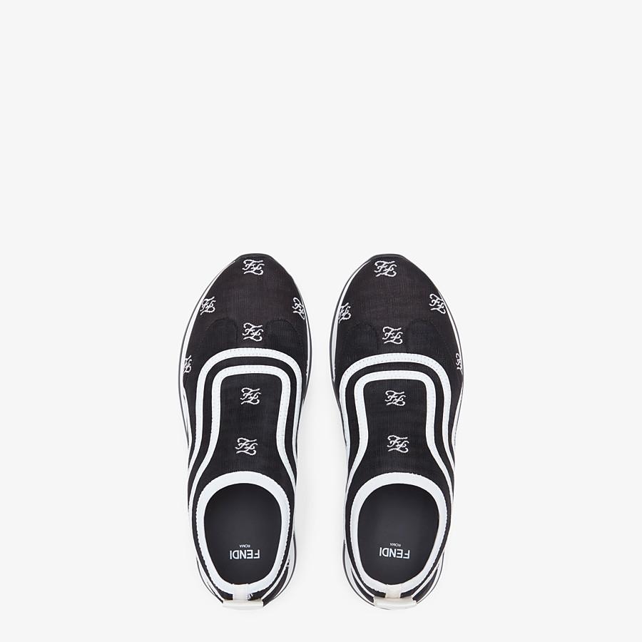 FENDI SNEAKERS - Black mesh sneakers - view 4 detail