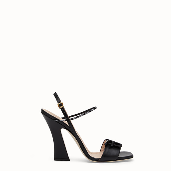 FENDI SANDALS - Black leather sandals - view 1 small thumbnail