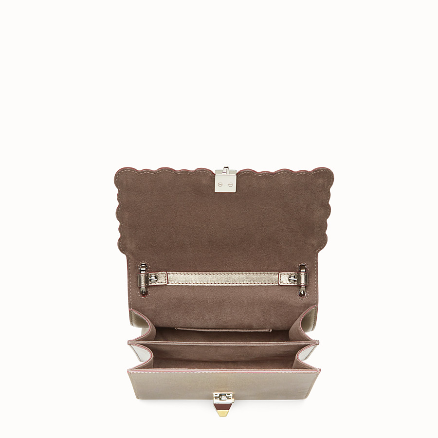FENDI KAN I SMALL - Bronze-coloured leather mini bag - view 4 detail