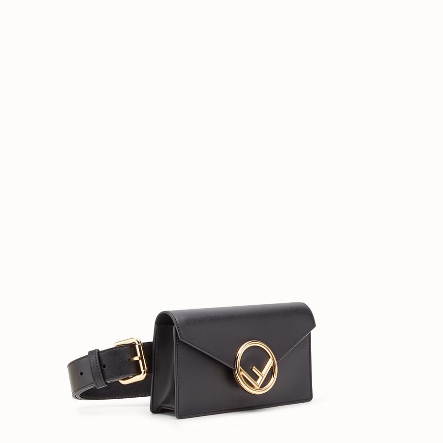 495567958ff Black leather belt bag - BELT BAG