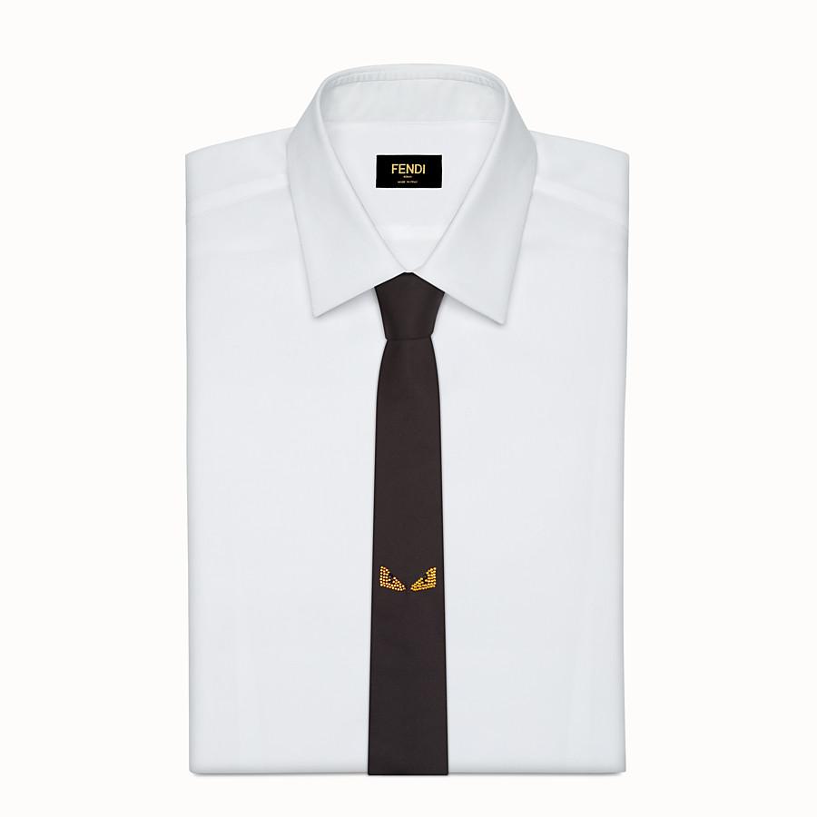 FENDI TIE - Black silk necktie - view 2 detail
