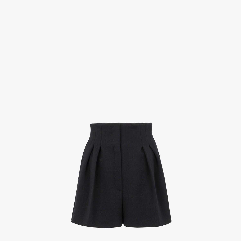 FENDI PANTS - Black piqué shorts - view 1 detail