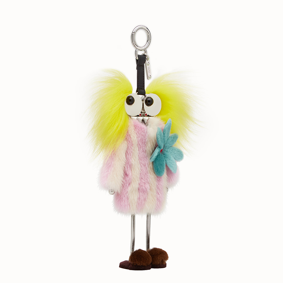 FENDI FENDI WITCHES CHARM - Charm in multicoloured fur - view 1 detail