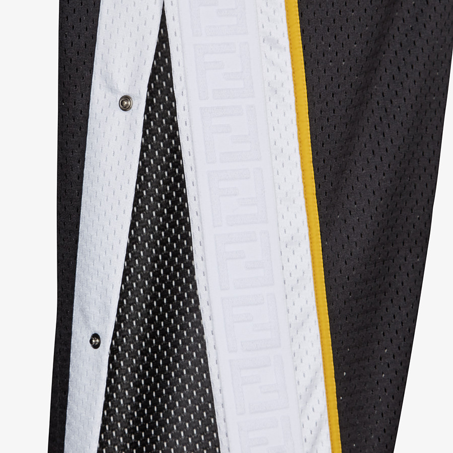 FENDI TROUSERS - Black tech mesh trousers - view 3 detail