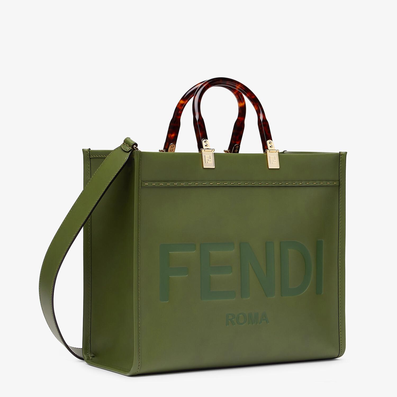 FENDI FENDI SUNSHINE MEDIUM - Green leather bag - view 3 detail