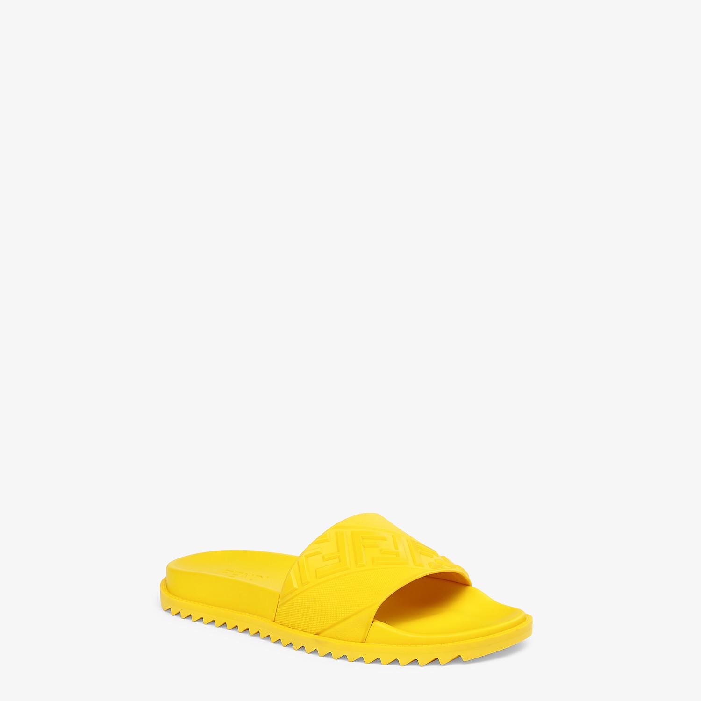 FENDI SLIDES - Yellow rubber slides - view 2 detail