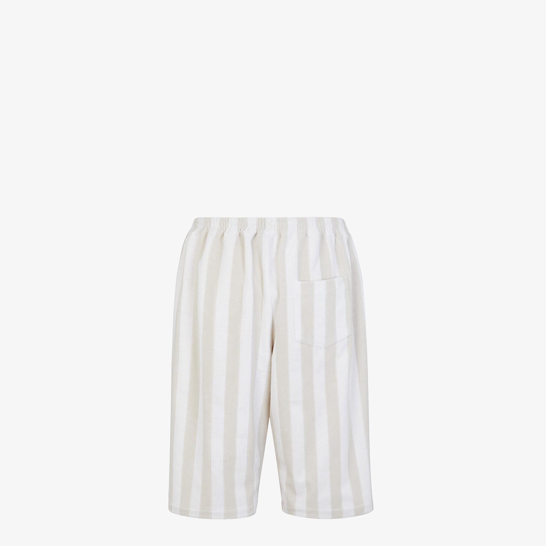 FENDI PANTS - White cotton Bermudas - view 2 detail