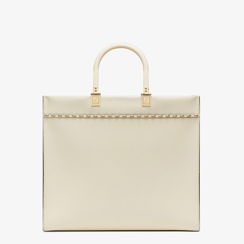 FENDI FENDI SUNSHINE MEDIUM - White leather shopper - view 4 detail