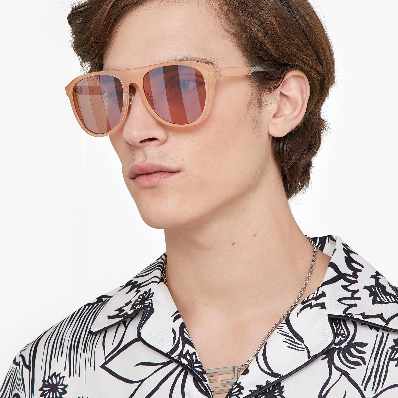 FENDI BOTANICAL FENDI - Pink sunglasses - view 4 detail