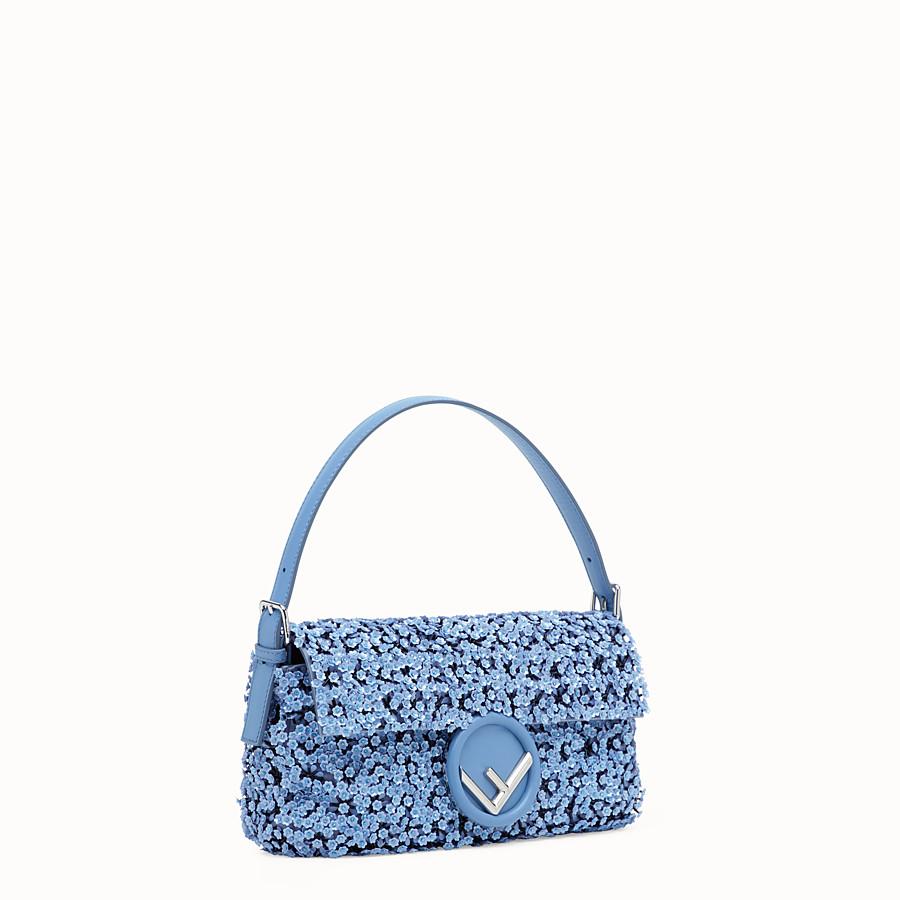 FENDI BAGUETTE - Light blue leather bag - view 2 detail