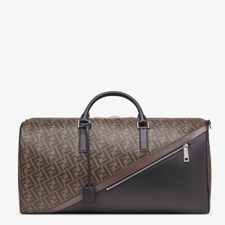 FENDI DUFFLE LARGE - Large brown fabric bag - view 1 detail