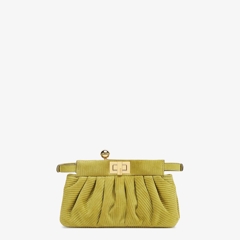 FENDI PEEKABOO CLICK - Small green suede bag - view 4 detail