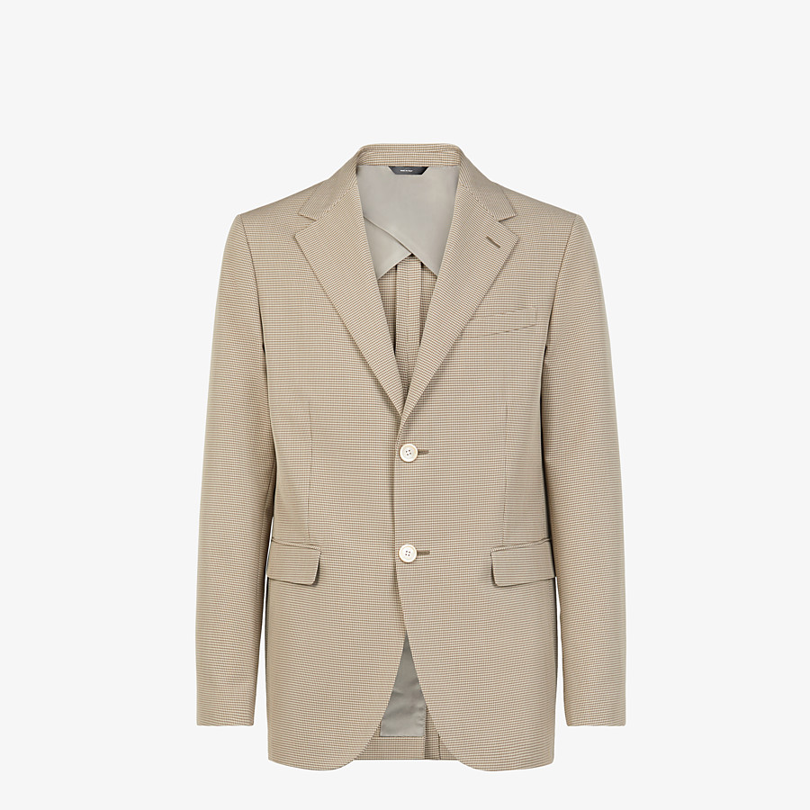 FENDI JACKET - Beige cotton blazer - view 1 detail