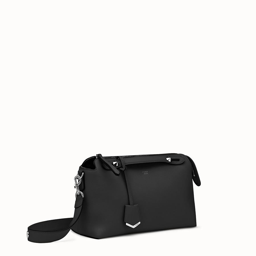 FENDI BY THE WAY MEDIUM - Small Boston bag in black leather - view 2 detail