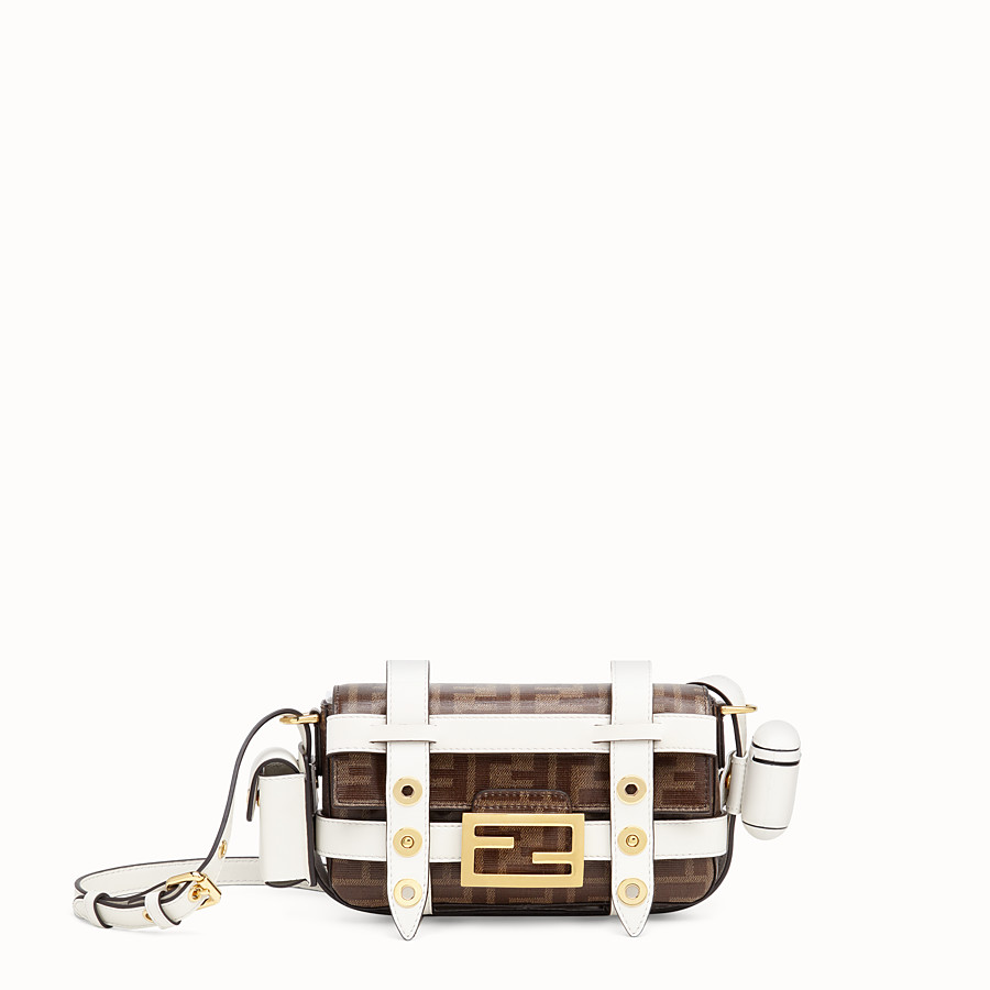 FENDI BAGUETTE MINI CAGE - Multicolour leather and fabric bag - view 1 detail