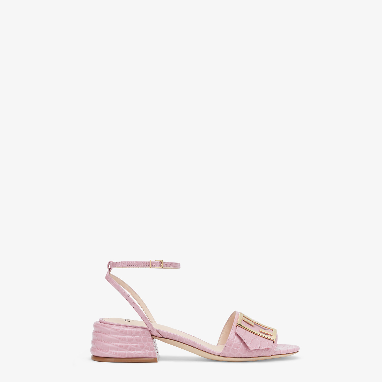FENDI SANDALS - Pink leather Promenade Sandals - view 1 detail