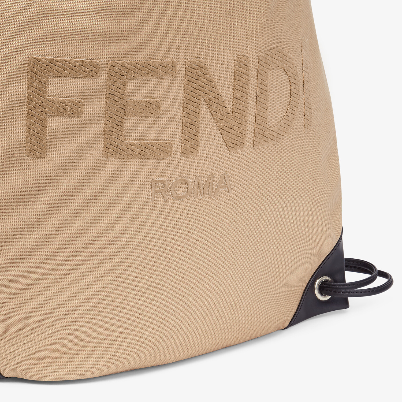 FENDI BACKPACK - Beige canvas backpack - view 4 detail