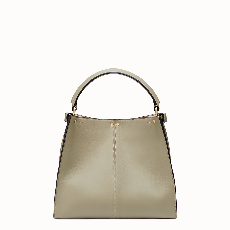 FENDI PEEKABOO X-LITE REGULAR - Sac en cuir beige - view 5 detail