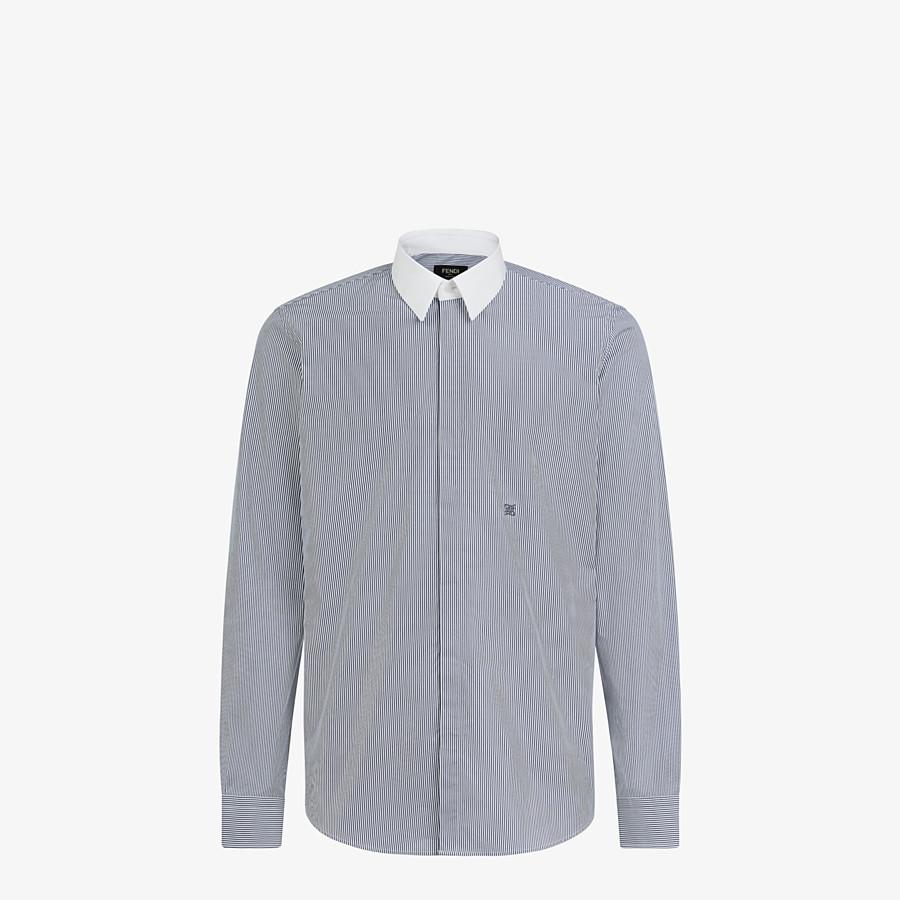 FENDI SHIRT - Blue cotton shirt - view 1 detail