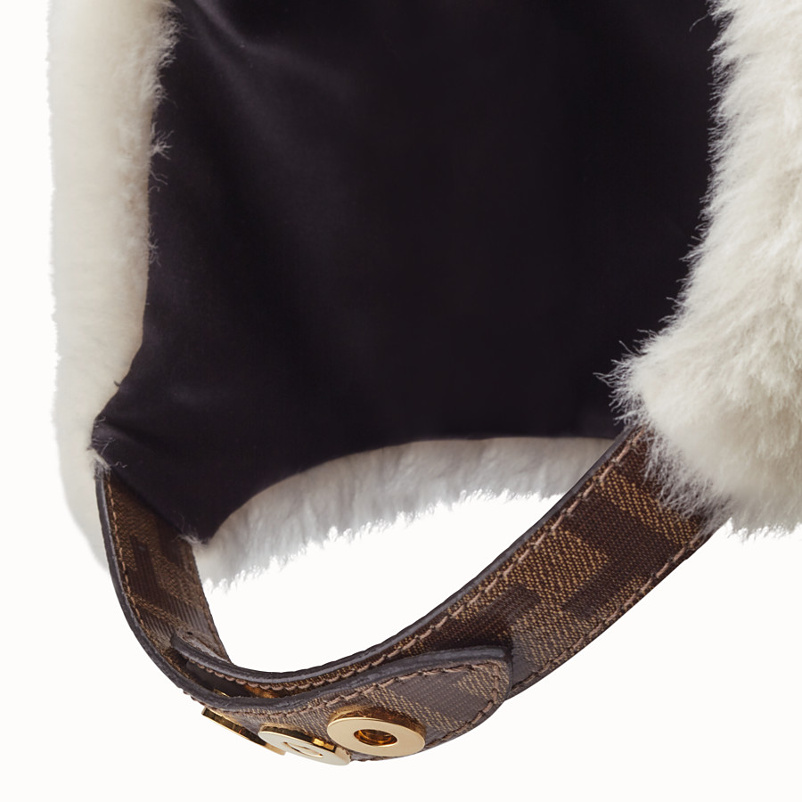 FENDI HAT - White shearling hat - view 2 detail