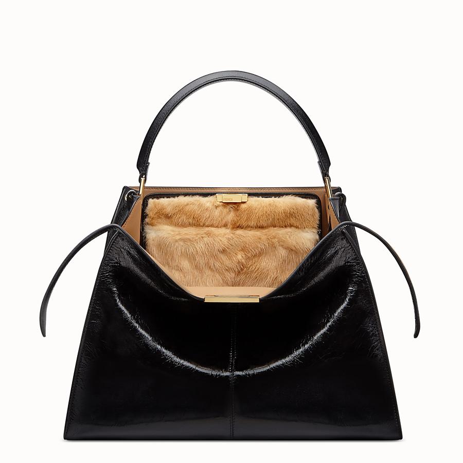 FENDI PEEKABOO X-LITE - Black leather bag - view 1 detail