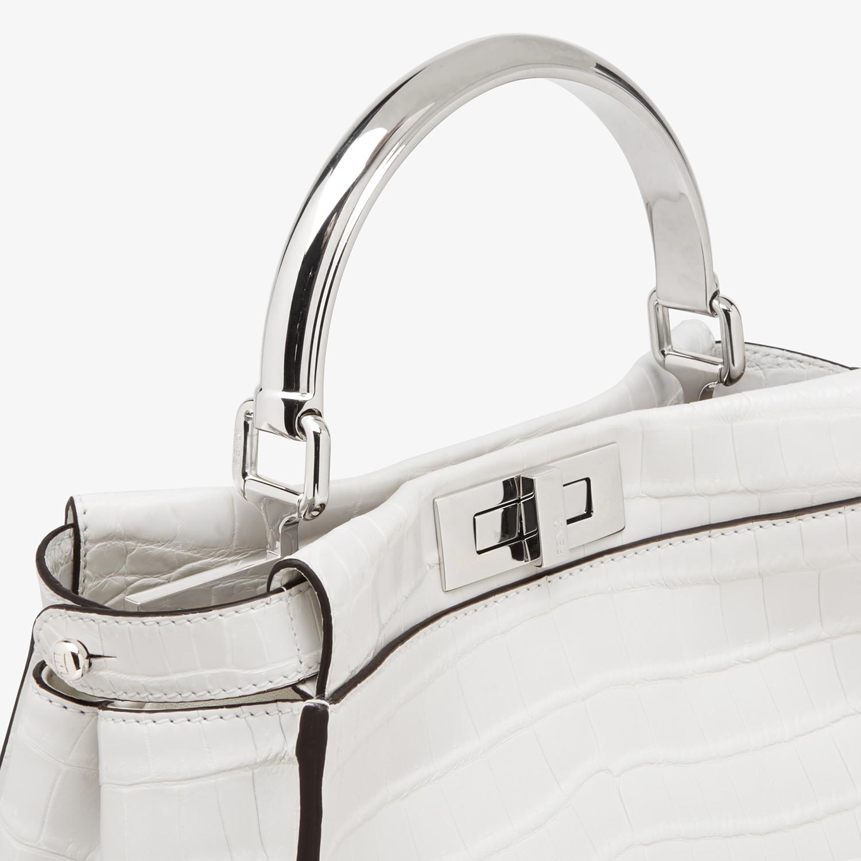 FENDI PEEKABOO ICONIC MEDIUM - White crocodile leather bag - view 5 detail