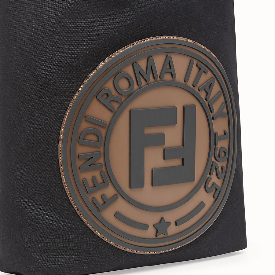 FENDI BACKPACK - Black canvas backpack - view 4 detail