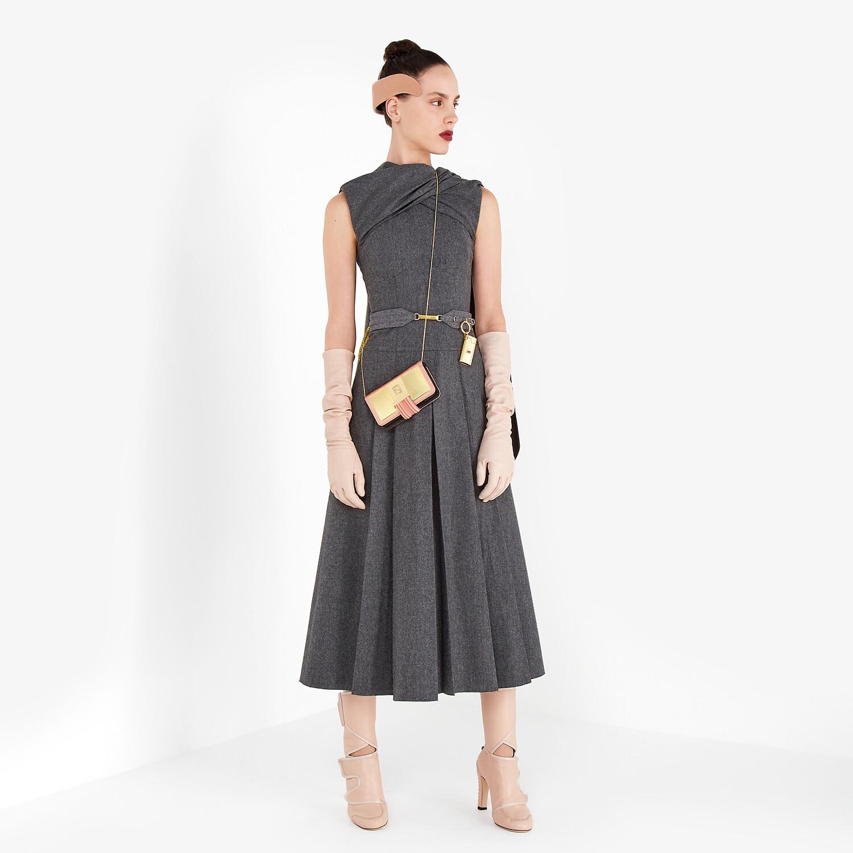FENDI DRESS - Gray flannel dress - view 4 detail