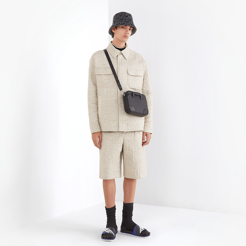 FENDI BLOUSON JACKET - White nylon jacket - view 4 detail