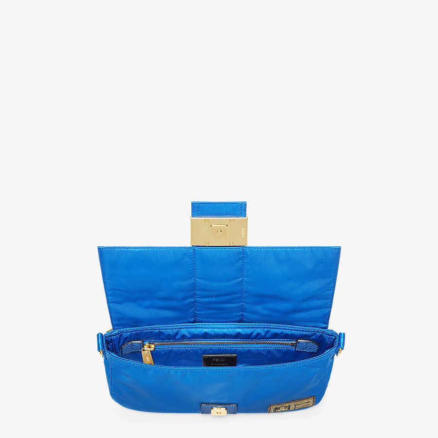 FENDI BAGUETTE FENDI AND PORTER - Blue nylon bag - view 4 detail