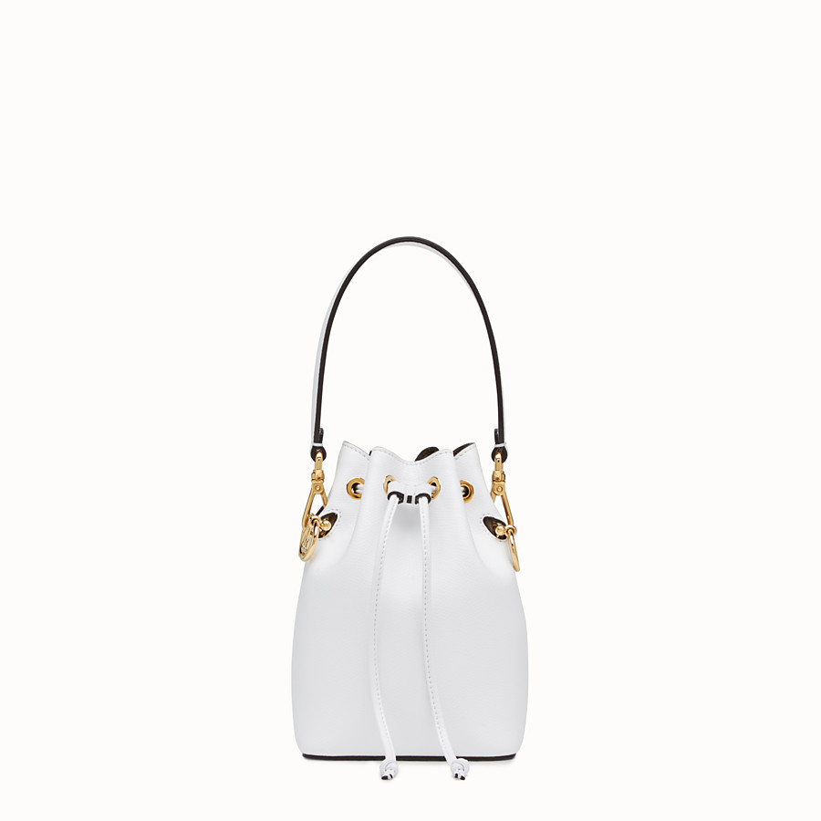 632d4252a90f White leather mini-bag - MON TRESOR