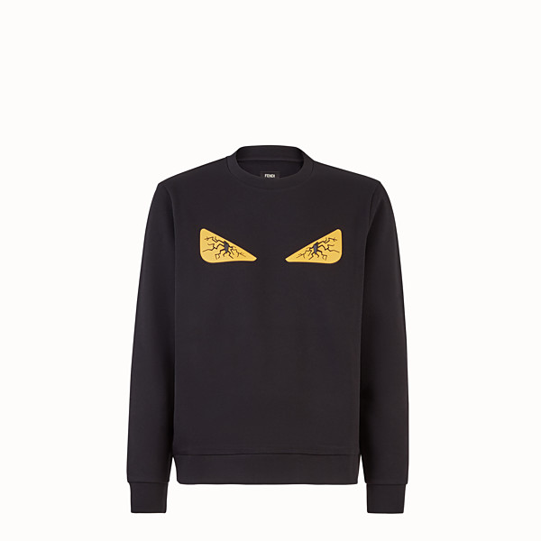 FENDI SWEATSHIRT - Black fabric sweatshirt - view 1 small thumbnail