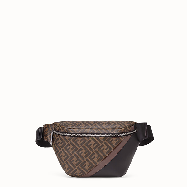 FENDI BELT BAG - Brown fabric belt bag - view 1 small thumbnail