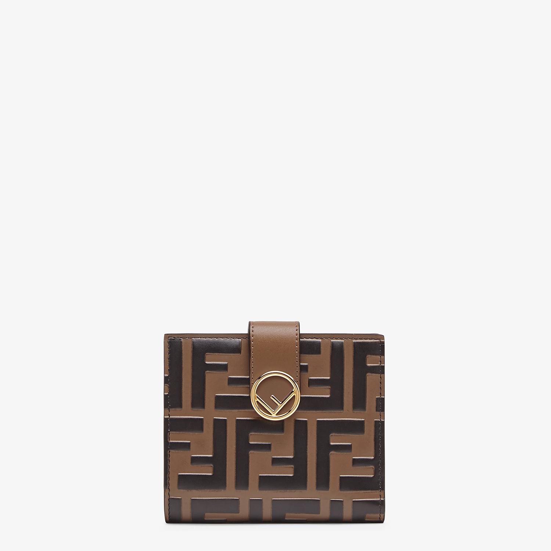 FENDI BIFOLD - Kompaktes Portemonnaie aus Leder in Braun - view 1 detail