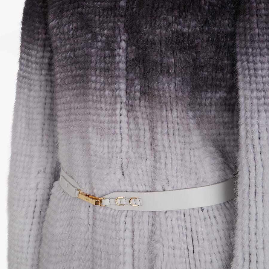 FENDI COAT - Gray mink coat - view 3 detail